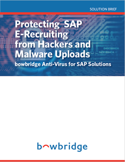 Protecting SAP-E-Recruiting from Hackers and Malware Uploads